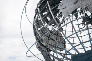 The Unisphere in Flushing Meadows Corona Park in Queens