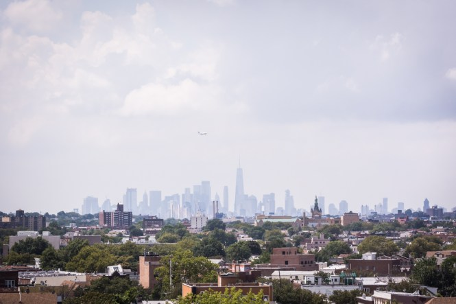 View of NYC skyline for article on a Terrace on the Park wedding