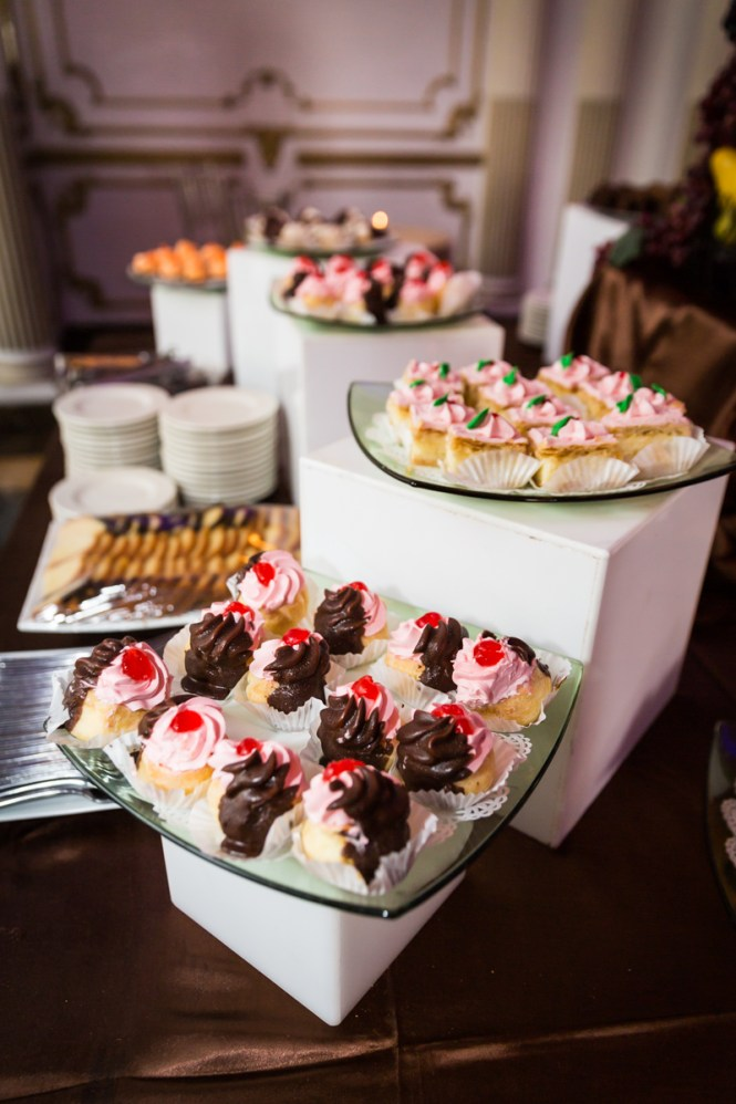 Dessert display for article on a Terrace on the Park wedding