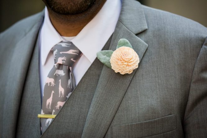 Boutonniere at a Bronx Zoo wedding
