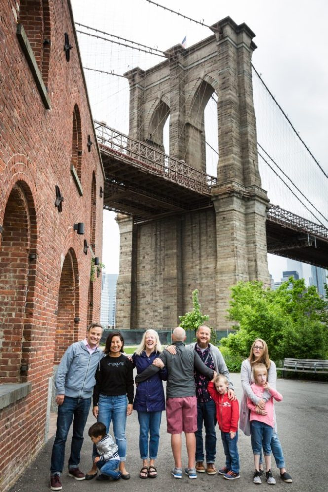 Brooklyn Bridge Park family portraitv
