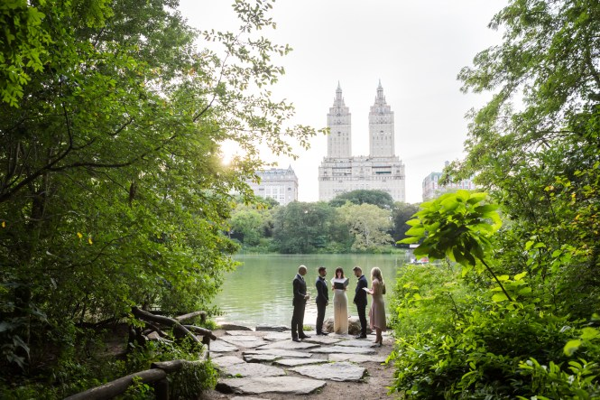 Wedding ceremony in Central Park for an article entitled, 'Do you need a permit to get married in Central Park?'