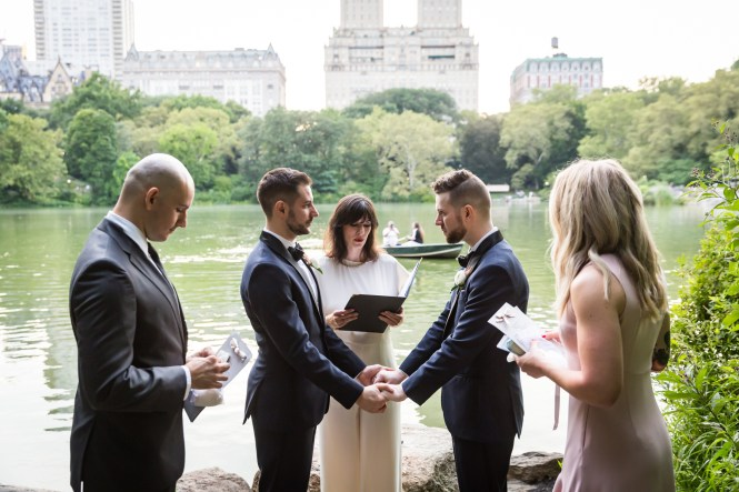 Wedding ceremony for an article entitled, 'Do you need a permit to get married in Central Park?'