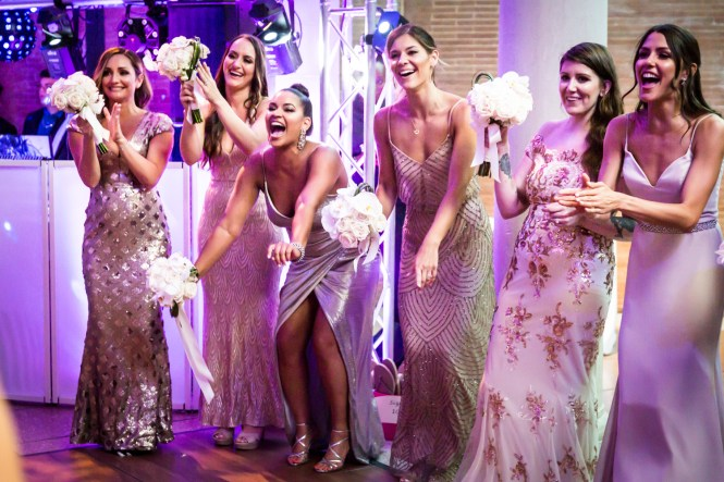 Bridesmaids celebrating for an article on Bronx Zoo wedding venue updates