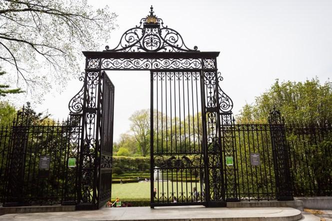 The Vanderbilt Gate at a Central Park Conservatory Garden wedding