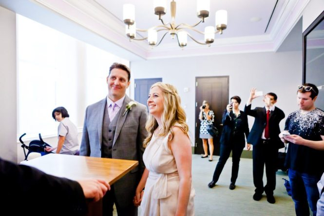The ceremony by NYC City Hall wedding photographer, Kelly Williams