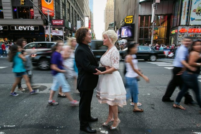 Sample image in Times Square for 'how to create a photo book'