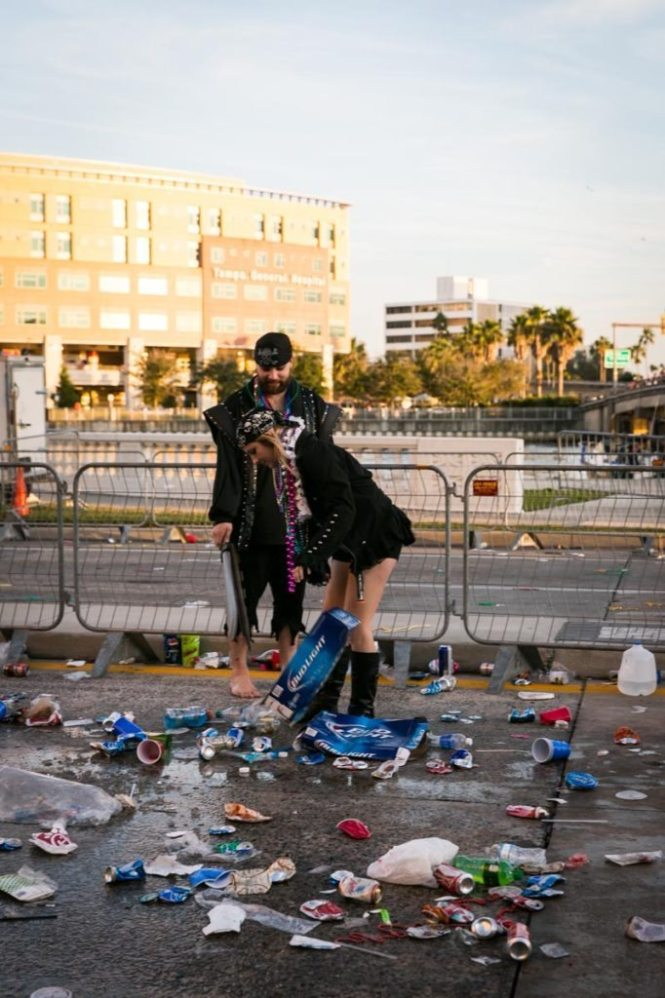 The aftermath of Gasparilla 2015, by NYC photojournalist, Kelly Williams.