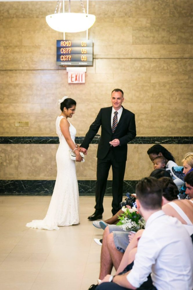 A couple about to get married, by NYC City Hall wedding photographer, Kelly Williams