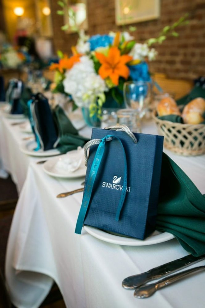 Guest gift bags at a bridal shower by Bay Ridge bridal shower photographer, Kelly Williams