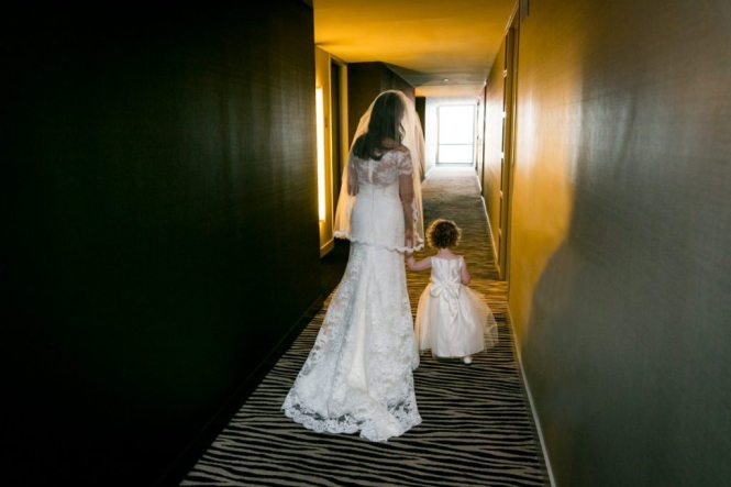 Final moments for a bride, by Hoboken wedding photojournalist, Kelly Williams