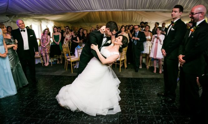 First dance at a Pelham Bay & Split Rock Golf Club wedding reception