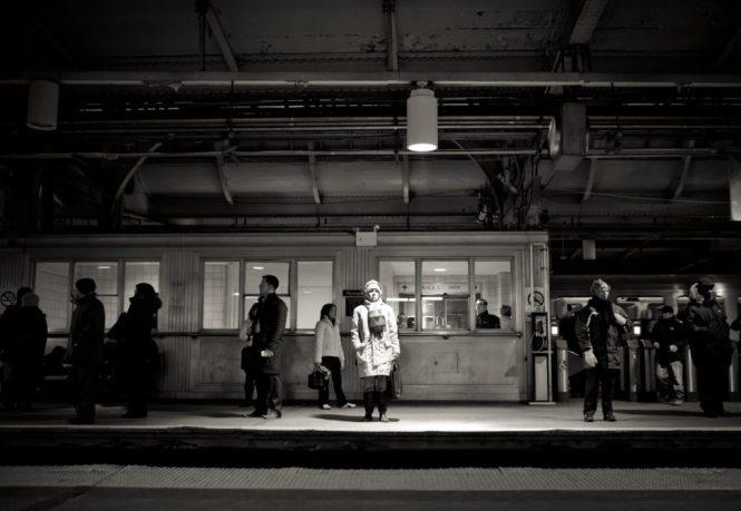 Path train spotlight, by NYC photographer, Kelly Williams