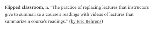 From A Devil's Dictionary of Educational Technology published by Bryan Alexander at https://medium.com/@bryanalexander/a-devils-dictionary-of-educational-technology-1c3ea9a0b932#.kioig7p18