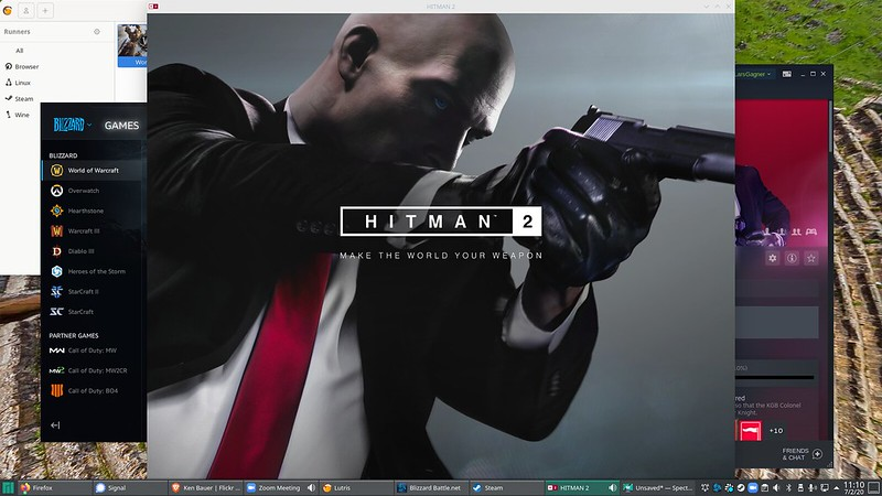 Screenshot with the Hitman 2 title screen visible
