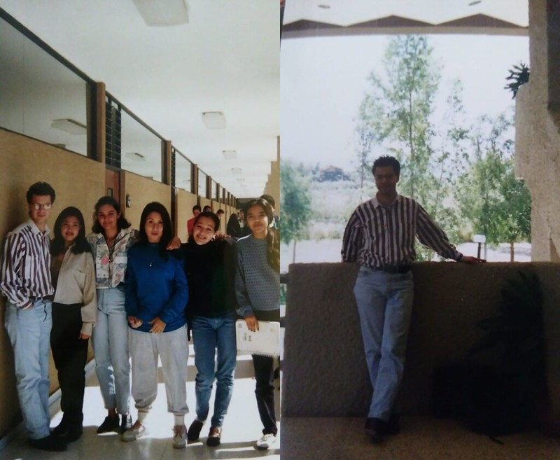 Composite of two images taken by my students in 1995 while I was their high school math teaching at the Tecnológico de Monterrey in Guadalajara.