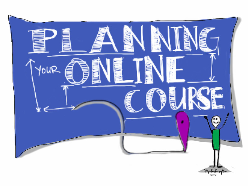 "Image with text ""Planning your online course"""