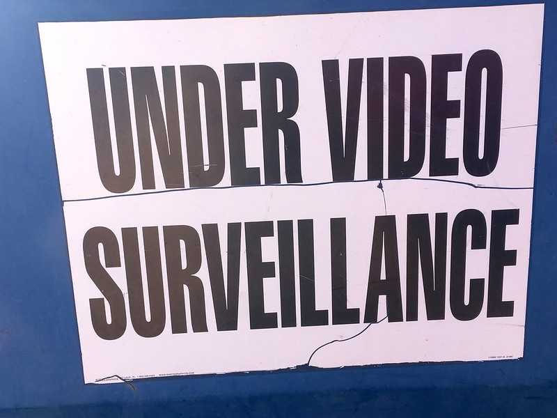 "Sign that reads ""Under Video Surveillance"""