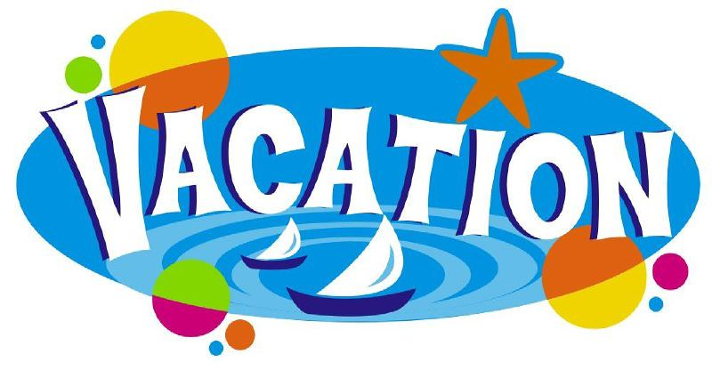 Colourful sign that says Vacation.
