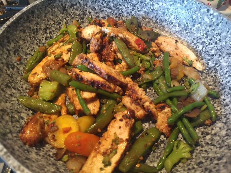 Picture of a Blackened Chicken Stir-fry