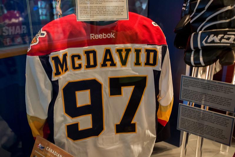 Connor McDavid Jersey,   Hockey Hall of Fame - Toronto, Ontario (Canada)