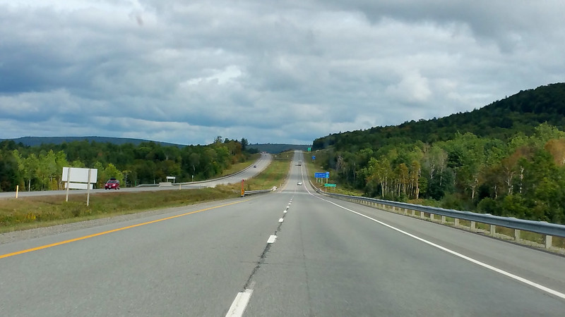 Highway. About a half hour west of Fredericton.