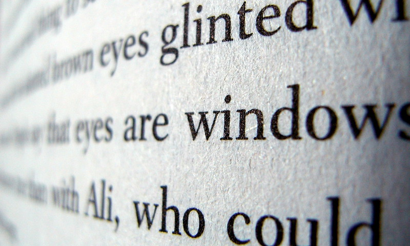 Photograph of a few lines of text in a book.