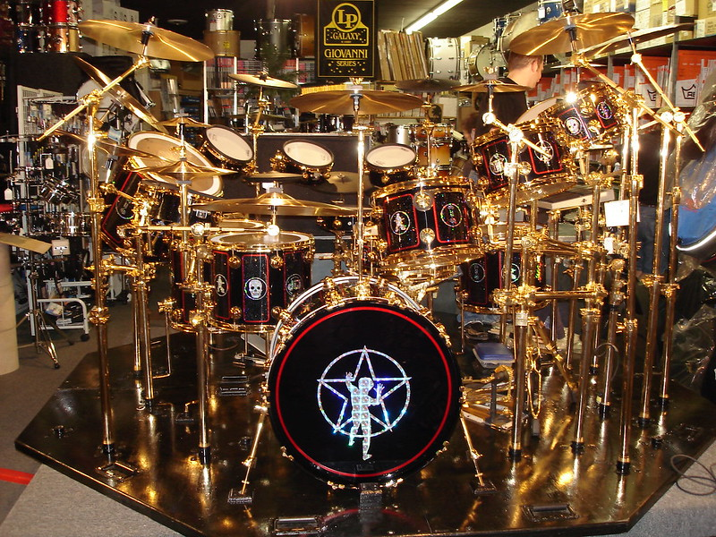 Neil Peart's Drum Kit in Pittsburgh