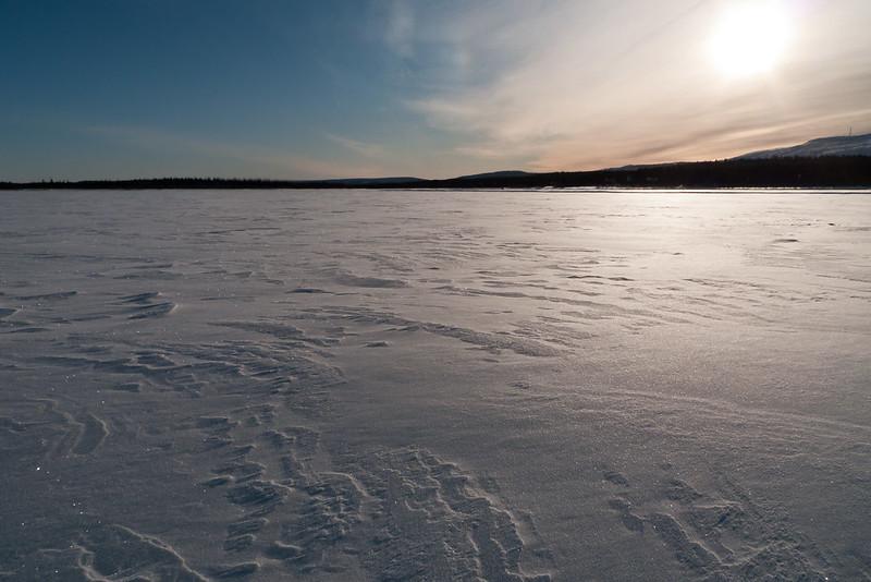 Snowy scene from Pulju, Lapland, Finland.