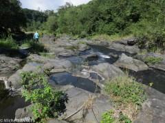 La rivière Langevin en bas de la vallée : bucolique