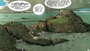 Le fort de Bertheaume dans la BD L'épervier (tome 3)