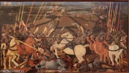 Paolo Uccello : bataille de San Romano. Une grande technique dans la représentation des chevaux ruants!
