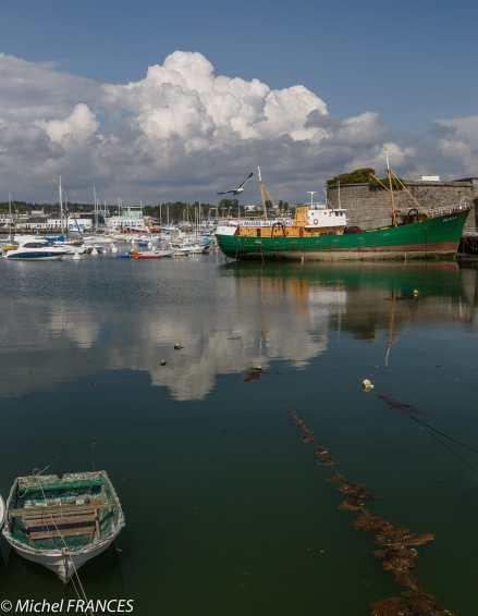 Reflets dans le port de Concarneau