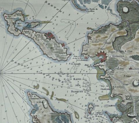 Carte anglaise de 1757