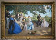 Frédéric Bazille - La réunion de famille - Regardez la gueule de Père, le 4ème à gauche - Mieux qu'un instantané photo ...