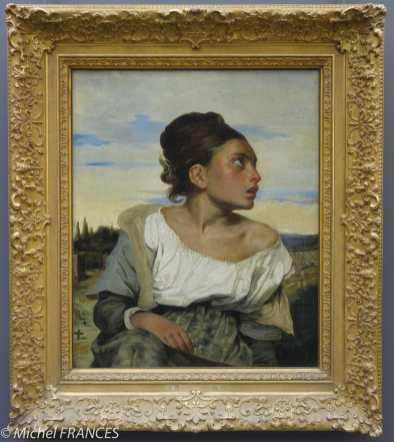 Eugène Delacroix - jeune fille au cimetière