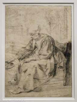 La faiseuse de crêpes - Gabriel Metsu - Après ses débuts à Leyde, Metsu s'installe en 1654 à Amsterdam où il se spécialise dans les scènes de genre. Dans un premier temps, il peint surtout des femmes seules, de milieu modeste, absorbées dans leurs tâches ménagères. Proche de ces compositions, cette Faiseuse de crêpes devait apparaître comme un modèle de vertu domestique. L'attribution à Metsu, qui remonte au 18ème siècle, est probable mais reste difficile à confirmer car la comparaison avec les deux seuls dessins qui sont indiscutablement de sa main n'est pas aisée.