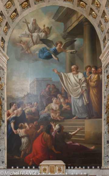 Joseph-Marie Vien - Saint-Denis prêchant la Foi en France - 1767