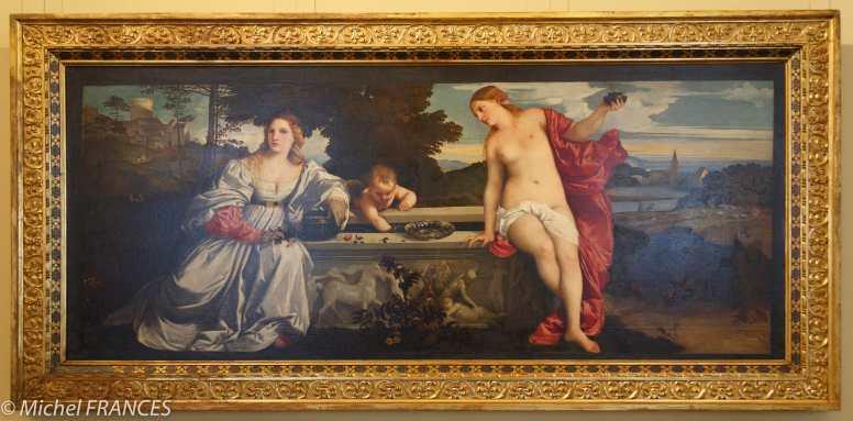 Amour sacré et Amour profane de Titien peint en 1514