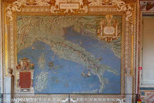 La carte de l'Italie