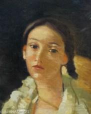 André Derain - La nièce du peintre assise