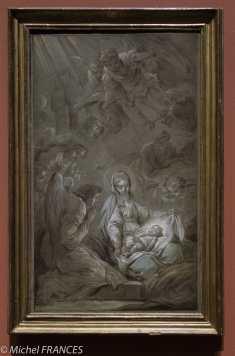 Carle van Loo - L'adoration des Anges - 1750-1751 - prêté par le musée de Brest