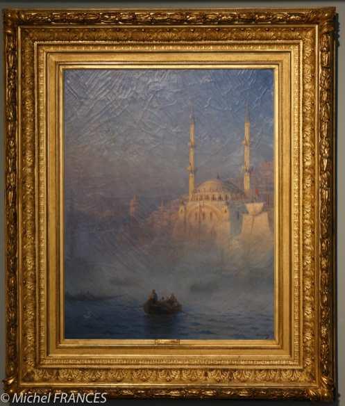 Ivan Konstantinovitch AÏVAZOVSKI - Constantinople, la Mosquée Top-Kahné - 1884 - dépôt du Musée du Louvre 1973