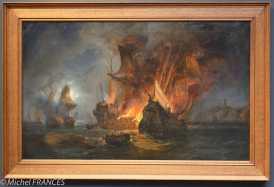 Pierre-Julien GILBERT - Combat de la Cordelière et d'une frégatte anglaise - 1838