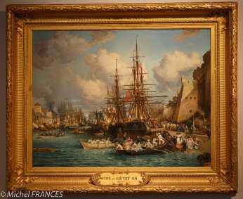 Jules NOËL - Le port de Brest - 1864