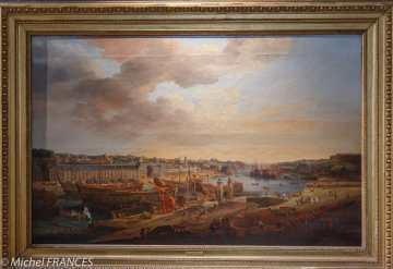 Louis-Nicolas VAN BLARENBERGHE - Vue du port de Brest (vue prise de la terrasse des Capucins) - 1774