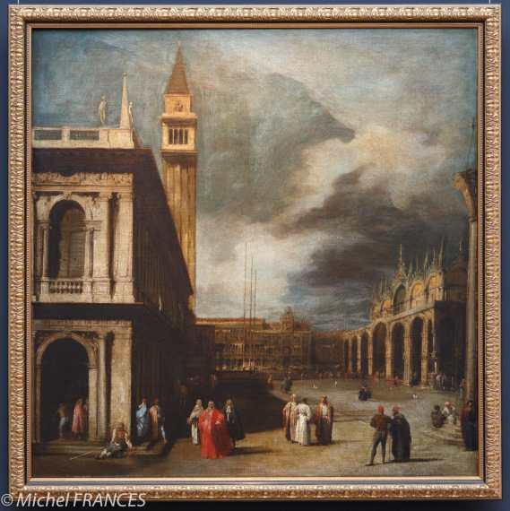 Attribué à Giovanni Antonio CANAL dit CANALETTO - Venise, la Piazzetta San Marco - vers 1740