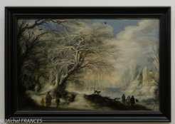 Gijsbrecht LEYTENS - Paysage d'hiver avec gitans et patineurs - vers 1640
