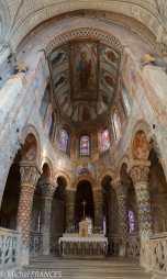 Le chœur de l'église sainte Radegonde à Poitiers - même perspective que pour la salle Labrouste