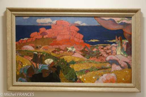 Musée des beaux arts d'Angers - Maurice DENIS - Saint-Georges aux rochers rouges - 1910